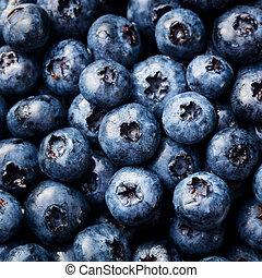 uppe., blåbär, organisk, topp, frisk, nära, utsikt.
