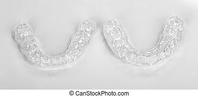 upper and lower essix retainers