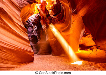 Upper Antelope Canyon in the Navajo Reservation near Page, Arizona USA