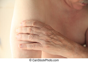 Upper arm pain in older man