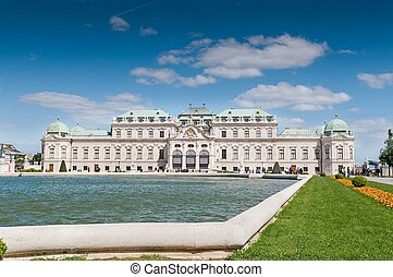 Upper Belvedere Palace in Vienna. The Belvedere palace was built in the 18th century as the summer residence for the important general Prince Eugene of Savoy.