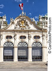The Belvedere palace was built in the 18th century as the summer residence for the general Prince Eugene of Savoy.