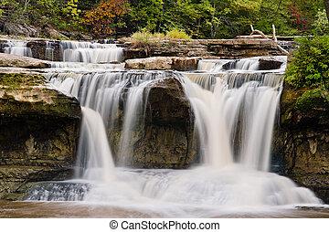 Upper Cataract Falls, Indiana - Indiana's Upper Cataract...