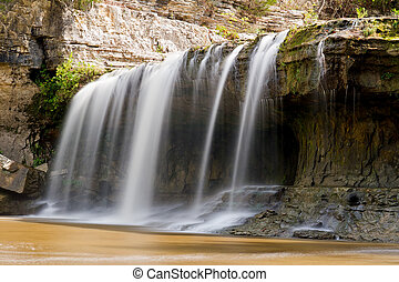 Upper Cataract Falls, Indiana - The left side of Upper...