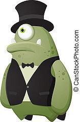 Upper Class Monster - Cartoon Character