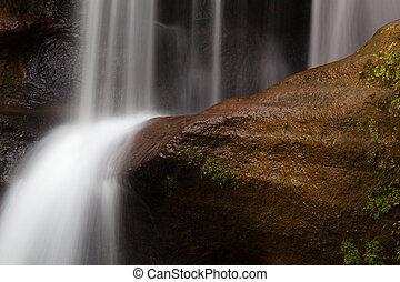 Upper Falls at Old Man's Cave, Hocking Hills State Park,...