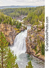 Upper Falls in Yellowstone National Park, Wyoming, USA