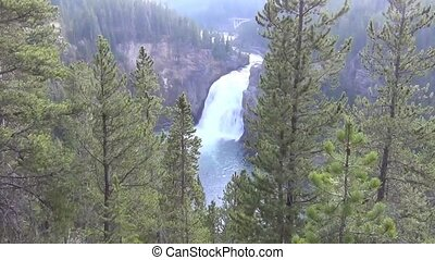 Upper falls in the Grand Canyon of Yellowstone, Yellowstone National Park