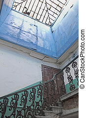 Upper floor in old house