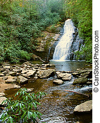 Upper Helton Creek Falls in Georgia