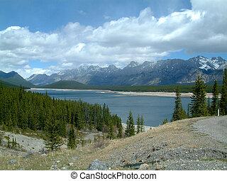 Upper lake in Kananaskis, Alberta, Canada.