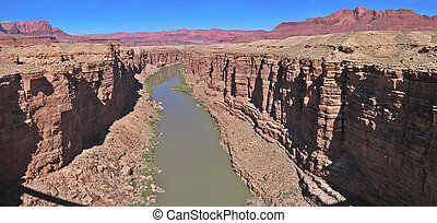 Upper marble canyon - A view of upper marble canyon from the...