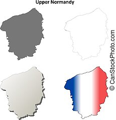 Upper Normandy blank outline map set - Upper Normandy blank...
