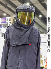 Upper part of the fire-resistant suit for firefighter