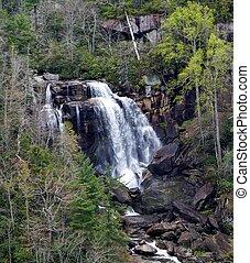 Upper Whitewater Falls - Whitewater Falls, North Carolina,...
