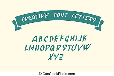 Handwritten font character symbols