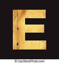 Uppercase letter E of the English alphabet