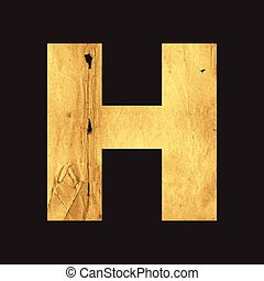 Uppercase letter H of the English alphabet