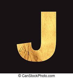 Uppercase letter J of the English alphabet