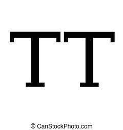 Uppercase Text edit sign icon Illustration design