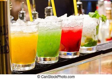 uppfriskande, cocktail