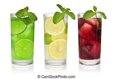 uppfriskande, drycken