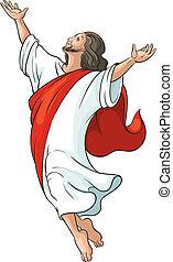 uppstigning, isolerat, jesus