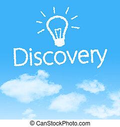 upptäckt, moln, ikon, med, design, på, blåttsky, bakgrund
