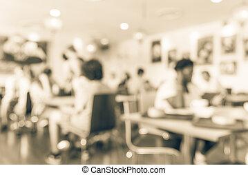 upptaget, cafe, filtrera, röd, avbild, kinesisk lykta, stil, dekoration, fond suddiga, singapore