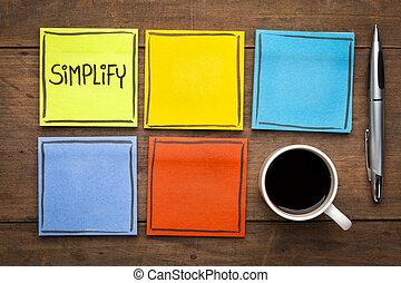 upraszczać, -, zadanie, kierownictwo, concept.