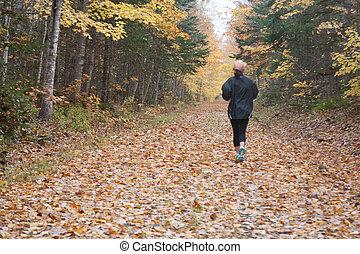 uprawiający jogging, upadek