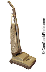 Upright Vacuum Cleaner isolated with clipping path