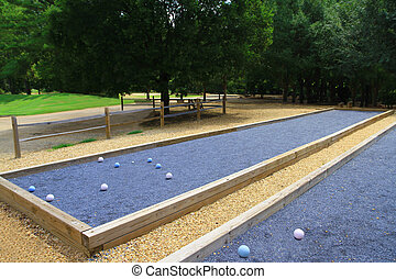 Upscale beautiful bocce courts