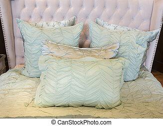 Upscale interior decor bedding