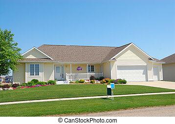 upscale, mieszkaniowy, dom