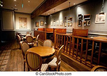 Upscale restaurant decoration