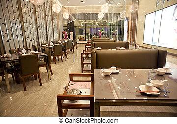 upscale, restaurante, decoração