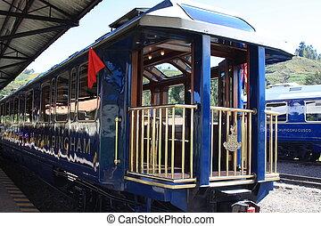 Upscale train to Machu Picchu
