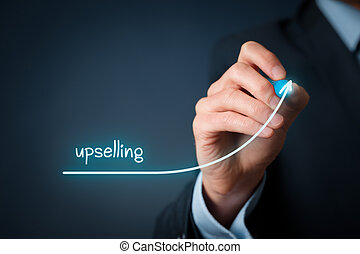 Upselling on-line (e-shop) marketing concept. Sales...