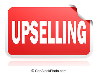 Upselling red square banner