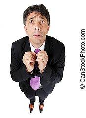Upset anxious businessman
