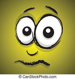 upset cartoon face