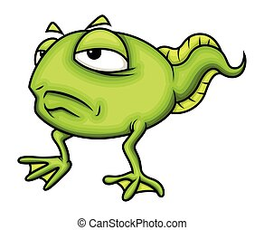 Upset Cartoon Frog Character