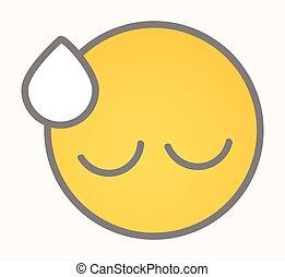 Upset - Cartoon Smiley Vector Face