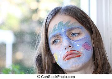 upset child portrait