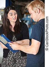 Upset Female Customer - An upset female customer at a...