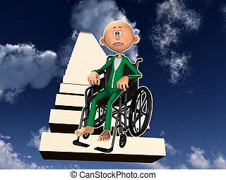 Upset Man In Wheelchair