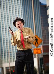 Upset Man With Phone