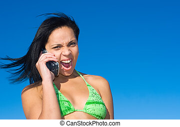 Asian teen girl scream #14