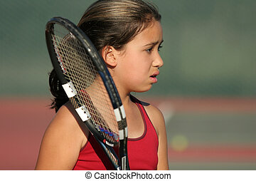 Upset tennis player